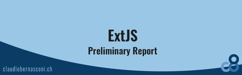 ExtJS Preliminary Report