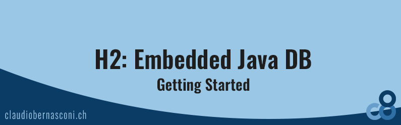 H2: Embedded Java DB: Getting Started